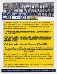 Wage Increase flier, June 2014 b0001